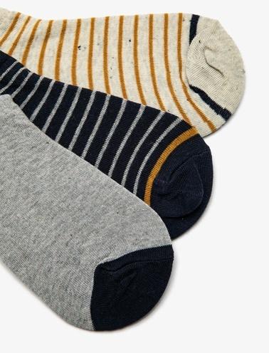 Koton 3'lü Erkek Çorap Sarı